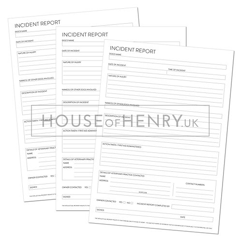 incident report form (without hole punch margin)