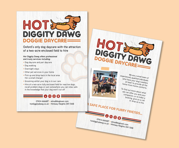 Hot Diggity Dawg Daycare Graphic Design
