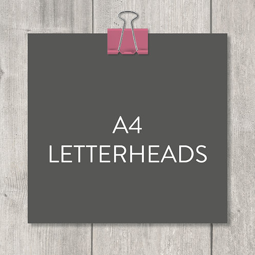 A4 letterheads – design, print and delivery