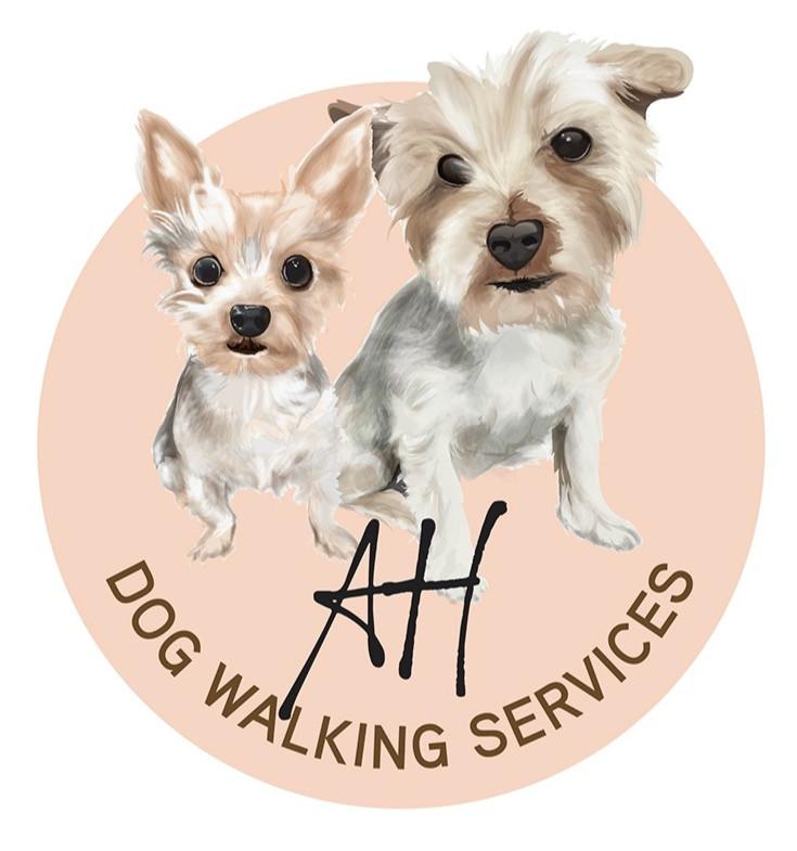AH Dog Walking Services Logo Graphic Design