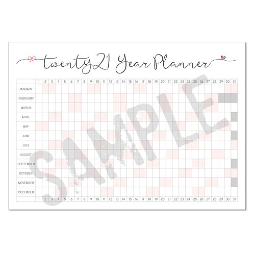 2021 year planner – coral