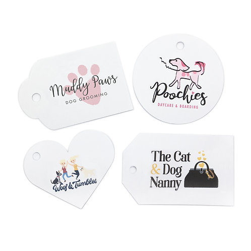 white card single-sided swing tags (pack of 50)