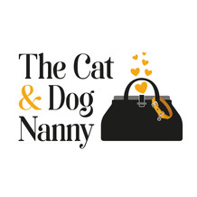 The Cat and Dog Nanny Logo Graphic Design