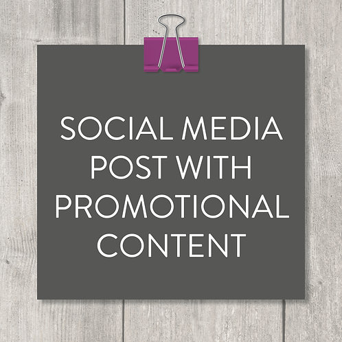 social media post with promo content