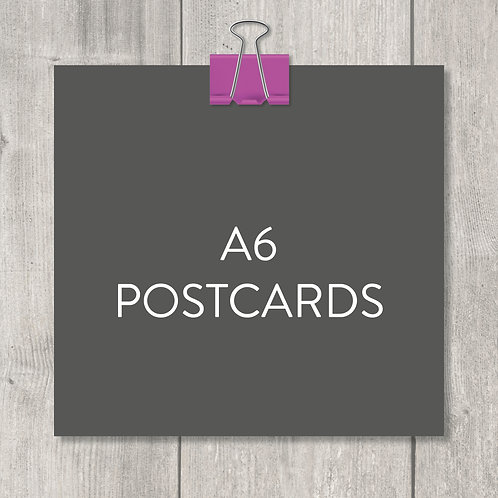 A6 postcards – design, print and delivery