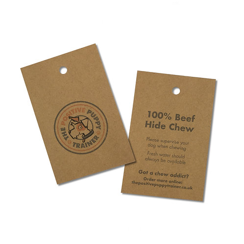 Kraft card double-sided swing tags (pack of 50)
