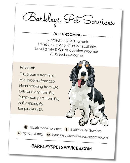 Barkleys Pet Services Graphic Design