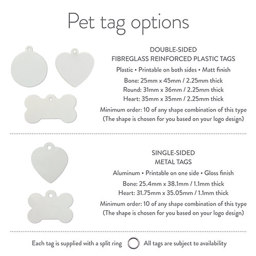 pet tags (pack of 10)