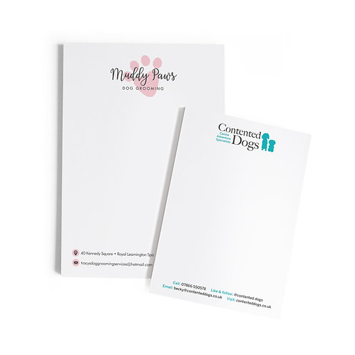 printed tear-off notepads (pack of 2)