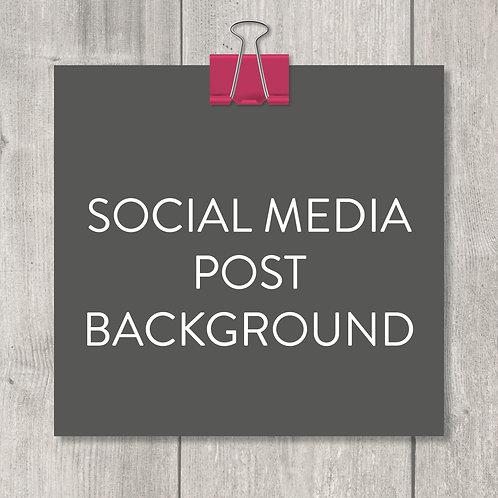 social media post background