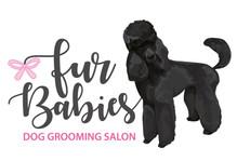 Fur Babies Dog Grooming Salon Logo Graphic Design