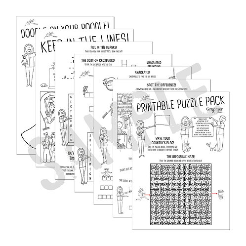 groomer humour printable puzzle pack