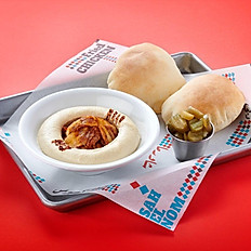 Hummus Chicken Shawarma Platter.