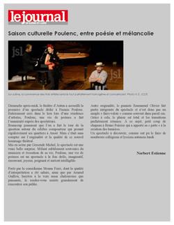 """Article """"Poulenc, une vie de poèmes"""""""