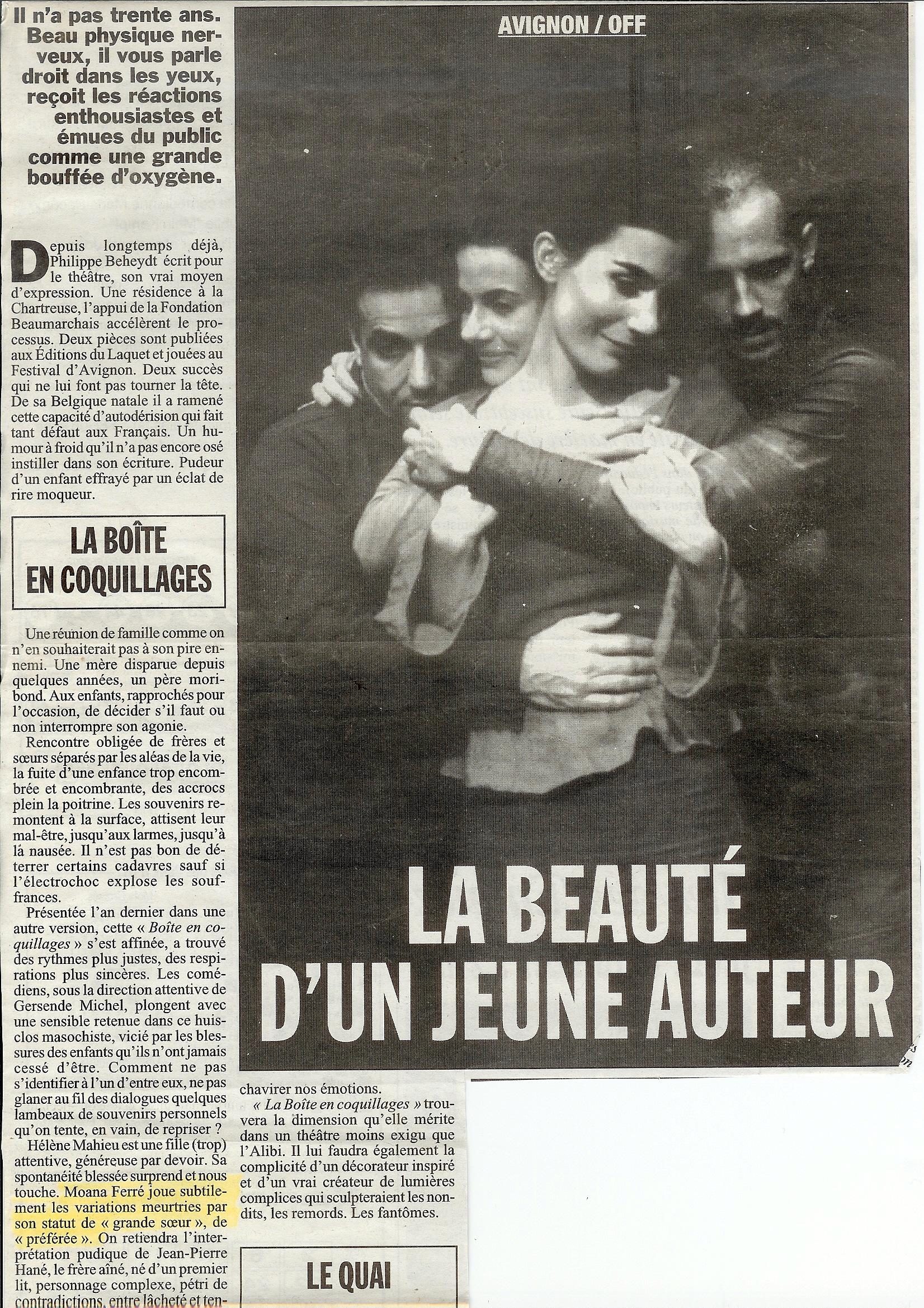 """Article """"La Boîte en Coquillages"""""""