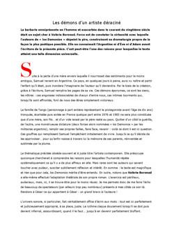 """Article """"Los Demonios"""""""