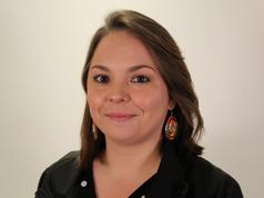 Tina Mapachee of the Anicinape Nation
