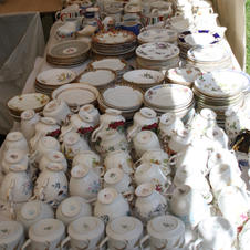 Part of Sue's bone china collection