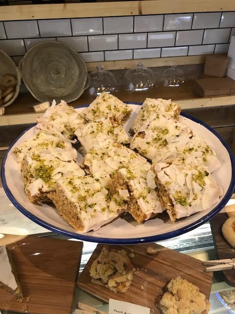 Chai Coconut & Pistachio Crumble Cake