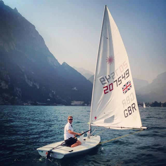 Jon Cooper sailing in Lake Garda