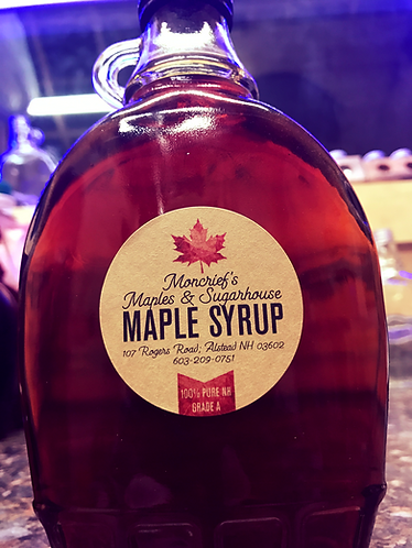 12oz Glass Bottle of Grade A New Hampshire Syrup