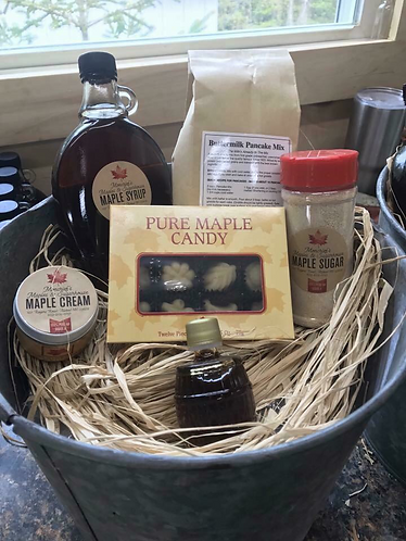Maple Sap Bucket Gift Basket