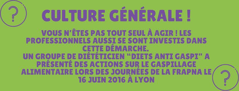 Culture générale avec Sylvie Dolhabaratz Diététicienne nutritionniste
