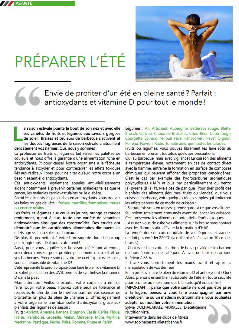 Sylvie diététicienne, Guide Sport Com Juin