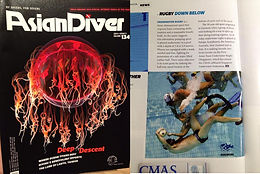 "Asian Diver Magazine: ""Rugby Down Below"""