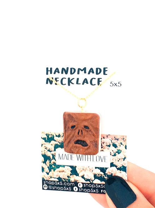 evil dead necronomicon hand made spooky necklace