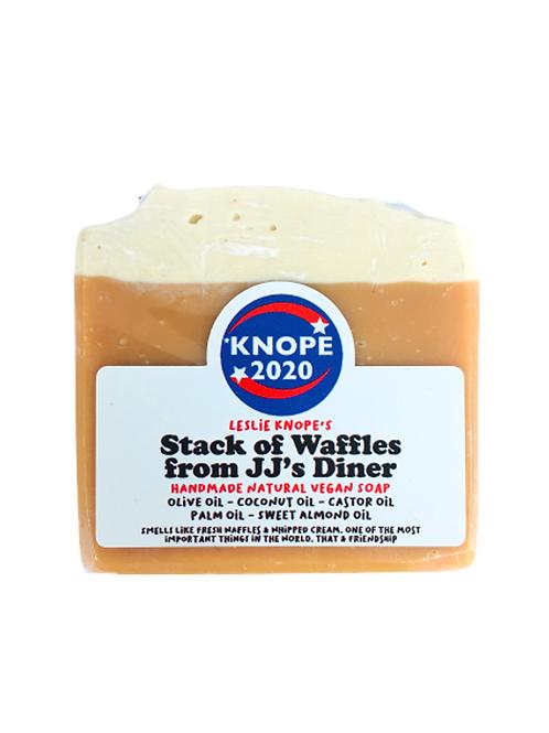 waffles friends work - leslie  knope - sample slab inspired soap