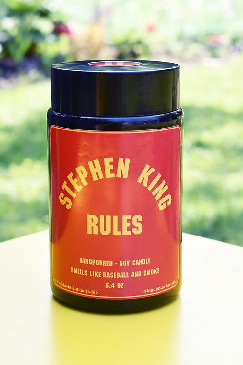 STEPHEN KING RULES soy candle