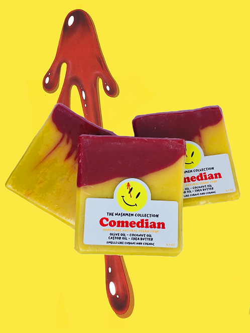 the watchmen handmade vegan cold process soap based off graphic novel the comedian