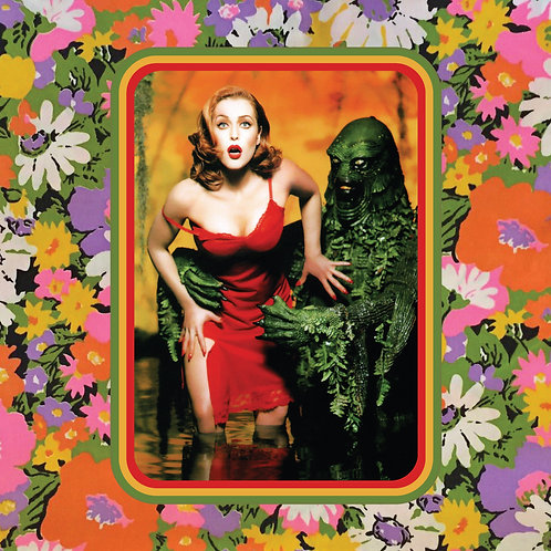 gillian anderson - 90s babe getting groped by swamp thing - vinyl sticker