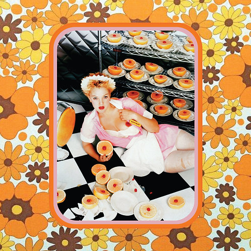 drew barrymore - 90s babe with grapefruit - vinyl sticker
