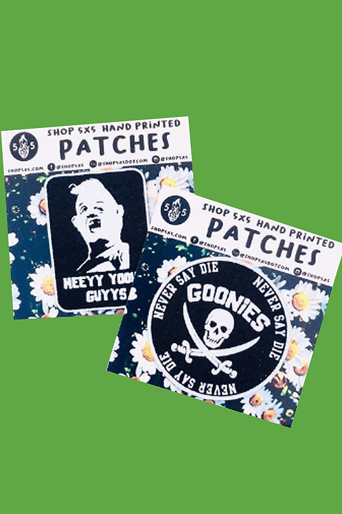 goonies hand made iron on patches