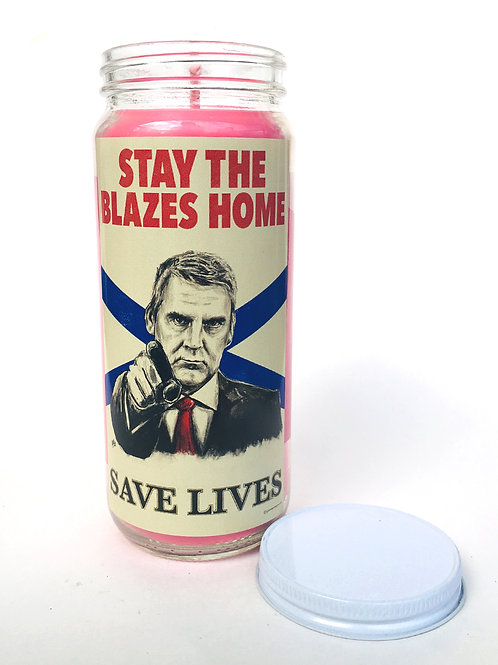 stay the blazes home candle