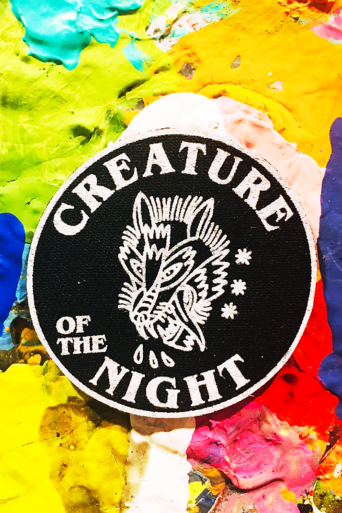 creature of the night iron on patch