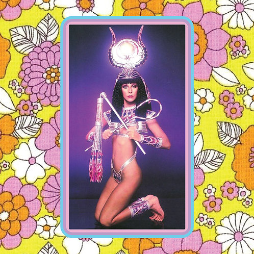 cher - egyptian beast - vinyl sticker
