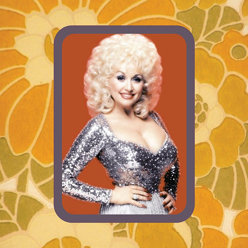 dolly parton - glitter queen - vinyl sticker
