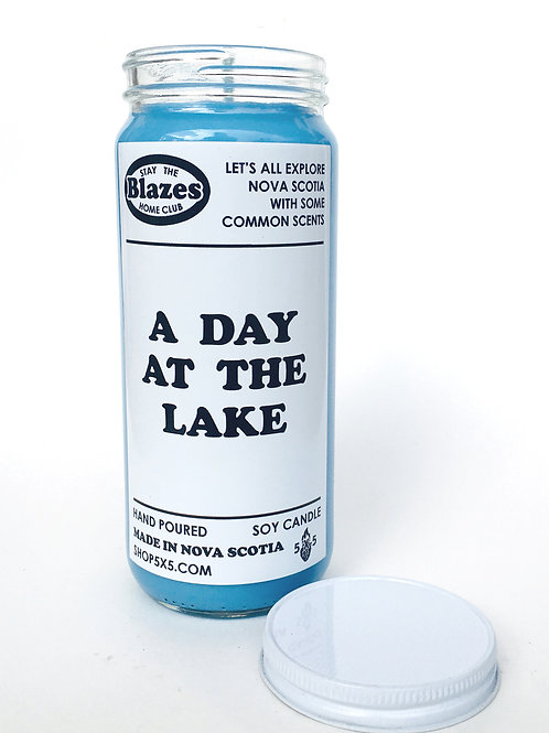 stay the blazes home candle day at the lake
