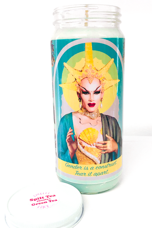sasha valour inspired hand poured soy prayer candle made in canada