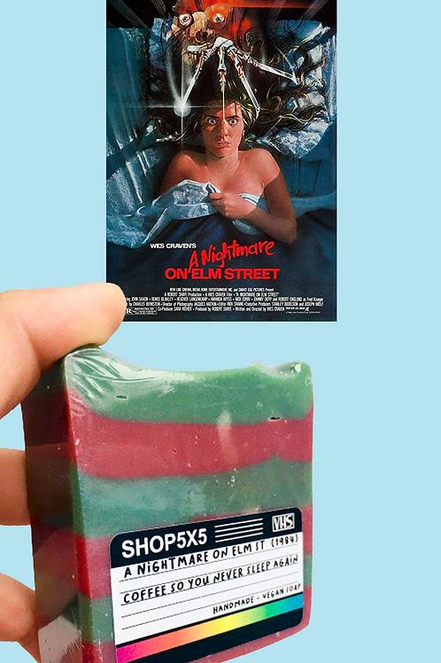 nightmare on elm street freddy krueger inspired classic horror movie handmade small batch vegan soap