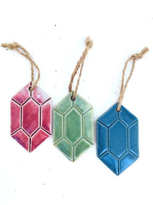 the legend of zelda red rupee green rupee blue rupee hand made ceramic ornament