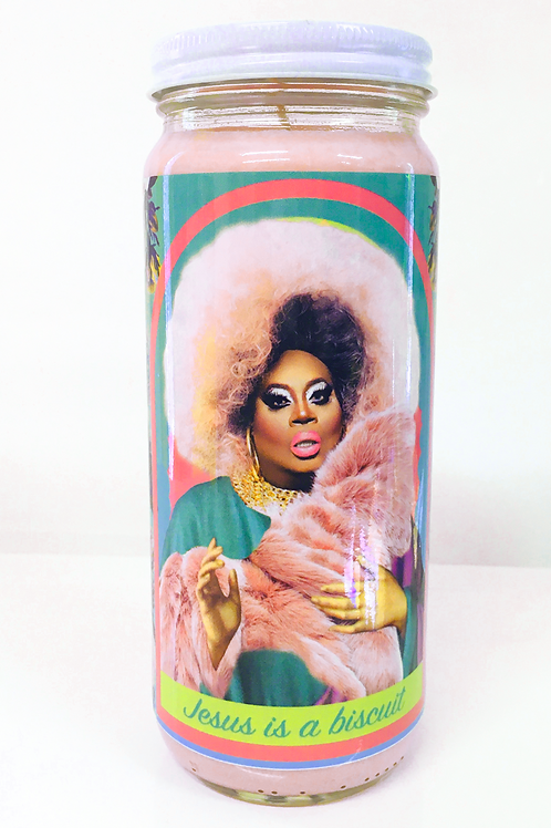 latrice royale rupaul's drag race inspired prayer candle
