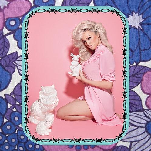 pamela anderson - pretty kitty - vinyl sticker