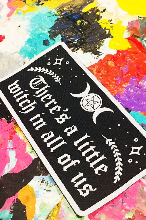 there's a little witch in all of us  PRACTICAL MAGIC iron on patch