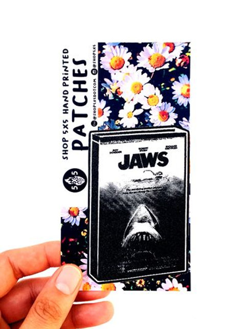 jaws vintage horror movie classic horror movie hand made silk screened iron on patches bruce the skark