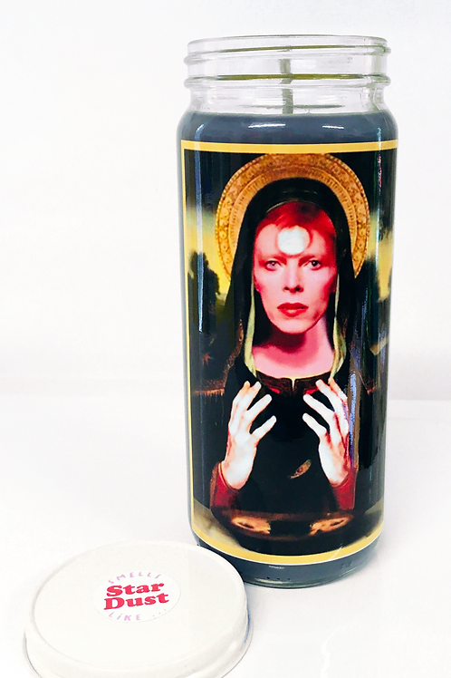 David Bowie STAR MAN  inspired prayer candle