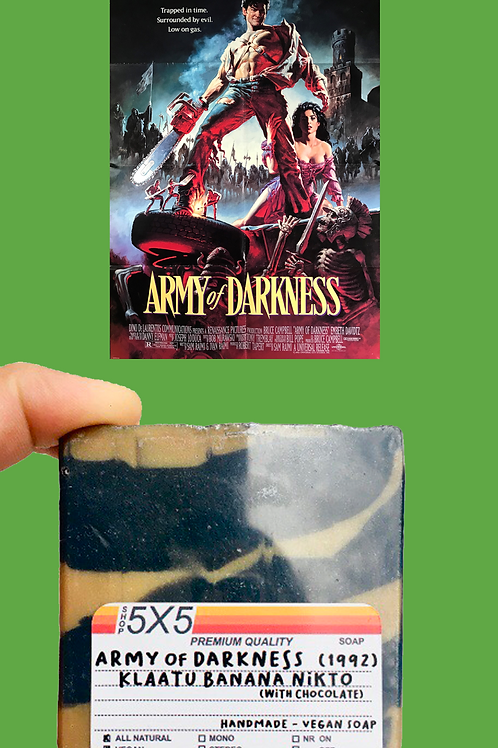 army of darkness evil dead ash williams classic horror handmade small batch vegan soap